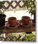 Empty Pots Metal Print