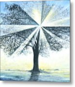 enchanced Tree Light Metal Print