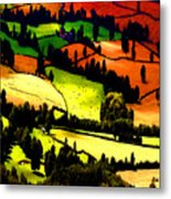 English Summer Fields Metal Print