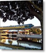 Epcot Tron Monorail Metal Print