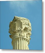 Ephesian Column Metal Print