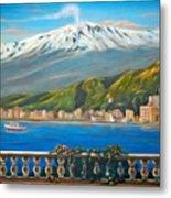 Etna Sicily Metal Print by Italian Art