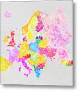 Europe Map Metal Print by Setsiri Silapasuwanchai