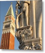 Eve And Bell Tower In Venice At San Marco Metal Print