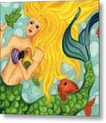 Eve The Mermaid Metal Print