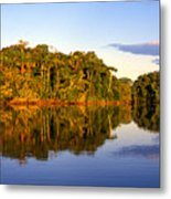 Evening By Garzacocha Lake Metal Print