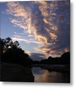 Evening Clouds Metal Print