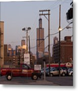 Evening In Chicago Metal Print