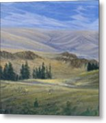 Evening Near Kamloops Metal Print