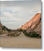 Evening Rocks By Mike-hope Metal Print