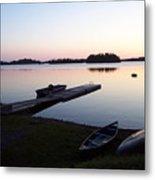 Evening Water Bliss Metal Print