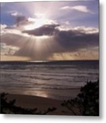 Explosion Of Light Metal Print