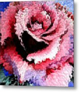 Extruded Rose Metal Print