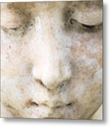 Face Of Stone Metal Print by Neil Overy