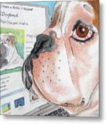 Facebook Dog Metal Print