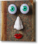 Facebook Old Book With Face Metal Print