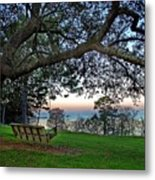 Fairhope Swing On The Bay Metal Print