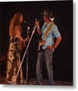 Faith And Tim Sing Metal Print by Bobby Miranda
