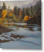 Fall At Colliding Rivers Metal Print