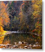 Fall Color Elk River Metal Print
