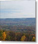 Fall Colors In The Valley Metal Print