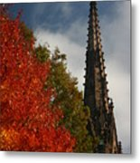 Fall In Garden City Ny. Metal Print