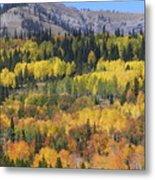 Fall On The Greys River Metal Print