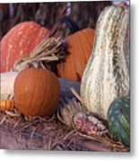 Fall-roadside-produce Metal Print