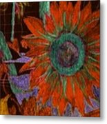 Fall Sunflower Metal Print