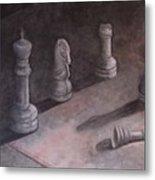 Fallen Chessman Metal Print