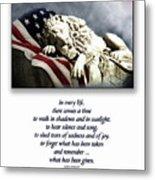 Fallen Patriot Metal Print