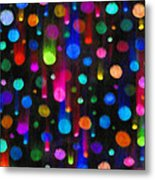 Falling Balls Of Color Metal Print