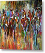 Falling Into Winter Herd Metal Print by Laurie Pace