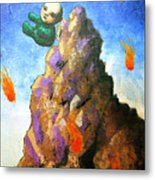 Falling Off The Mountain Metal Print
