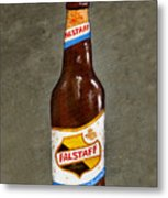 Falstaff Beer Bottle Metal Print by Elaine Hodges