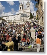 Famoust Spanish Steps In Rome Metal Print