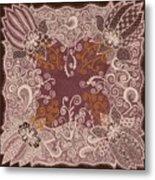 Fancy Antique Lace Hankie Metal Print
