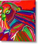 Fantasy Parrot Metal Print