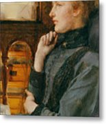 Far Away Thoughts Metal Print by Sir Lawrence Alma-Tadema