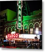 Fargo Nd Theatre At Night Picture Metal Print