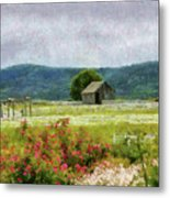 Farm - Barn - Out In The Country  Metal Print