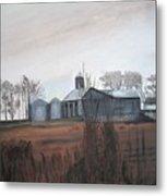 Farm In The Fall Metal Print