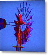 Farm Windmill Metal Print