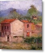 Farmhouse In Tuscany Metal Print