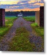 Farmhouse Sunrise - Arkansas - Landscape Metal Print