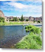 Farmland Along John Day River Metal Print