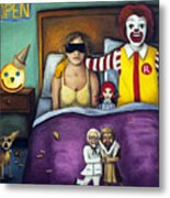 Fast Food Nightmare Metal Print by Leah Saulnier The Painting Maniac