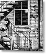 Feminine Stairwell Metal Print