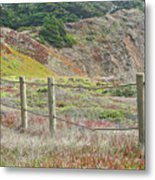 Fence Fort Fungston Metal Print