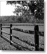 Fence Perspective Metal Print